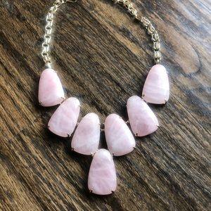 Kendra Scott Rose Quartz Harlow Necklace